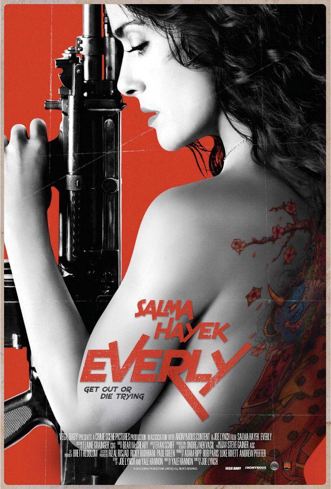 everly // o filme se passa todo em um apartamento e tem salma hayek despachando uma série de assassinos enviados pra matá-la.
