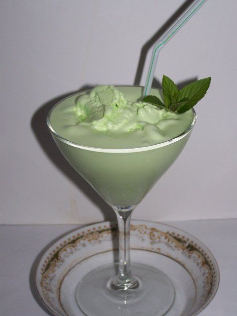 Make Ahead Grasshopper Ice Cream Frozen Drink Recipe.