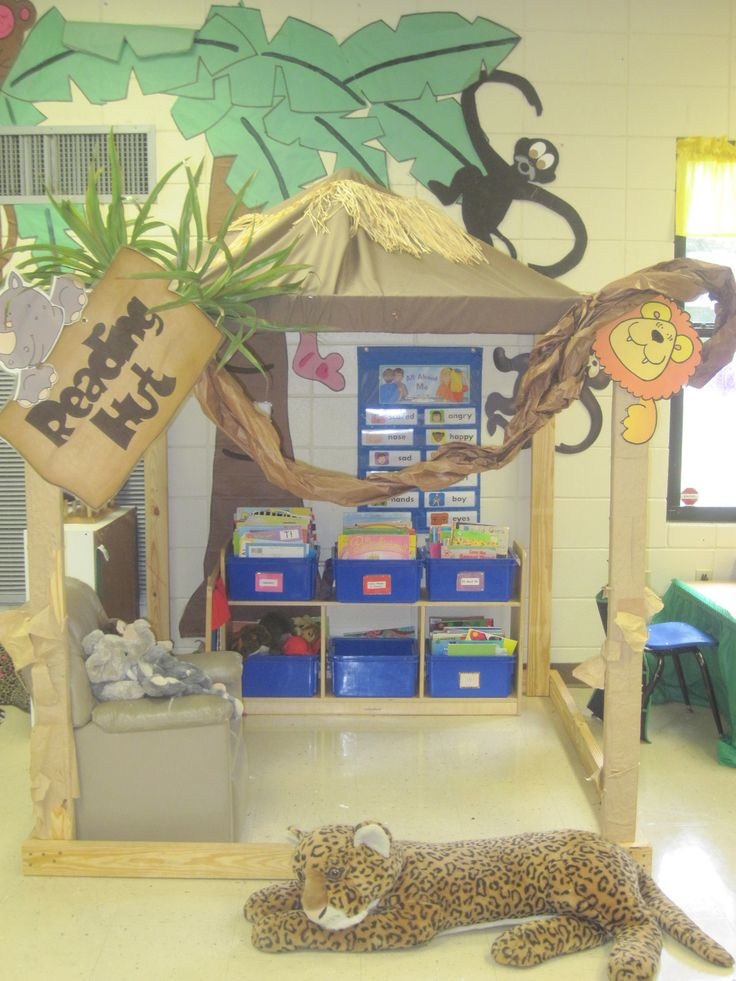 classroom themes | Our reading hut....a place where we can relax with an animal and read ...