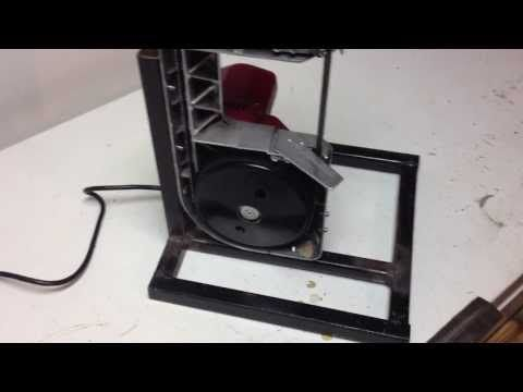 Bandsaw stand for Harbor Freight portable bandsaw - YouTube