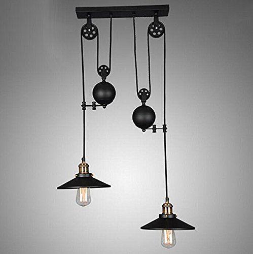 Kiven Lift Pulley Pendant Light Iron Art Light Country St... Https:/