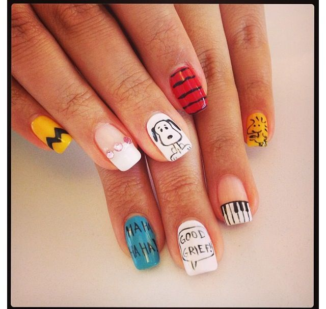 36 best snoopy nails images on pinterest nail designs fashion peanuts nails in the office today prinsesfo Gallery