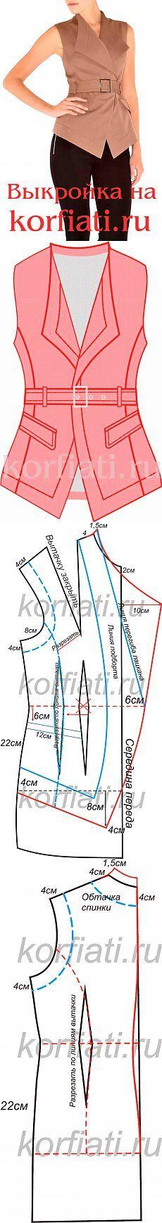 Cómo coser un chaleco - Patrón de Anastasia Korfiati