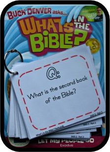 "Free Bible trivia flashcards that go along with ""What's in the Bible?"" DVDs (but you can use them without the DVDs)"