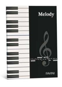 ALBUM MUSICA Album Musica su carta bianchissima extra-forte. MELODY: 10 pentagrammi - f.to 21x29,7 cm, 8 fogli, ideale per chi scrive musica e usa il leggio