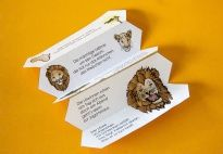 Accordion Book: The Lion Rhyme - Materials for children in pre-K and kindergarten from KiGaPortal.com