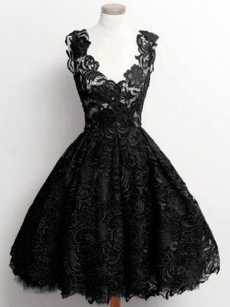 Vestido de Renda A-line Floral