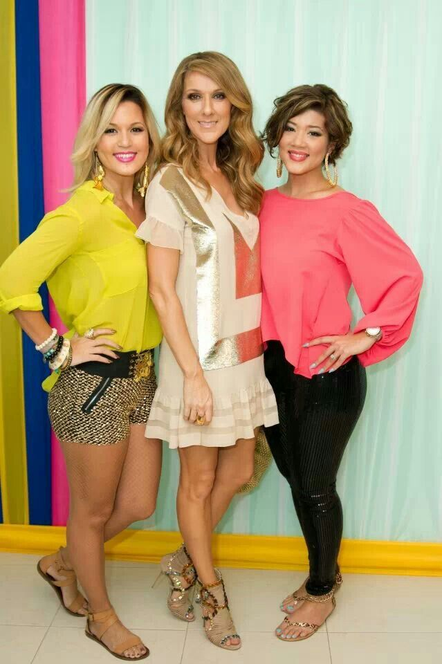 Tami Chin, Tessanne Chin and Celine Dion