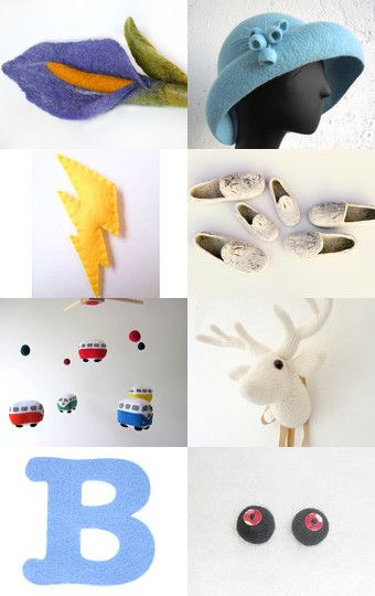 Felt finds (April 2015) by HuesShop on Etsy--Pinned with TreasuryPin.com