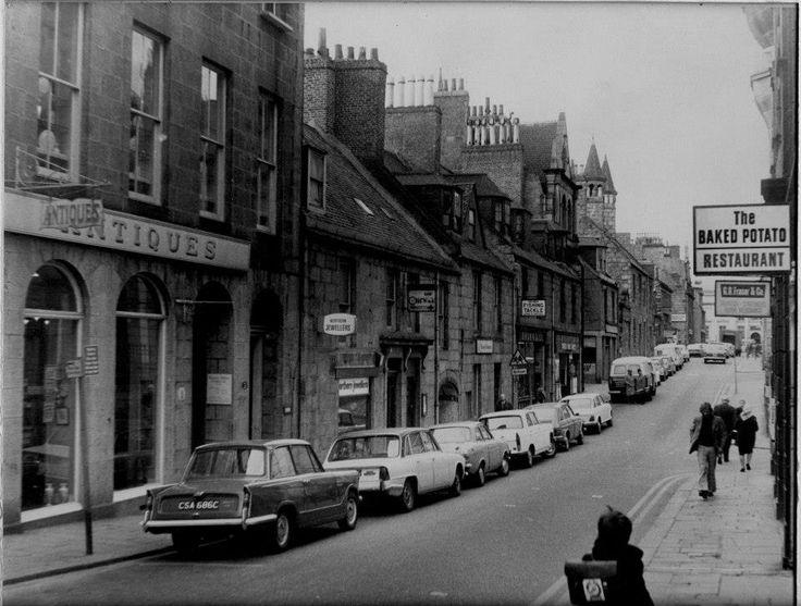 Belmont Street looking towards Schoolhill, 1970s
