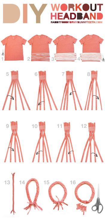 【手順】 ・Tシャツの身頃を1インチ(1.25センチ)幅にカットしたものを5本作ります。 ・そのパーツの脇の部分をカットして、輪になった状態から1本の長い紐の状態にします。 ・5本の紐の端をテープで束ねます。 ・手順5〜12の写真を参考に、編み込んでください。手順を繰り返し、作りたいサイズになるまで編み込みます。 ・編み終わったら輪の状態になるように置いて、両端の5本ずつの紐をそれぞれかた結びして固定します。 ・余分な紐をカットすれば完成です。