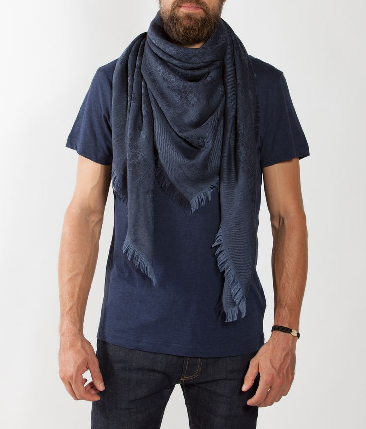 Skutle Scarf Navy blue