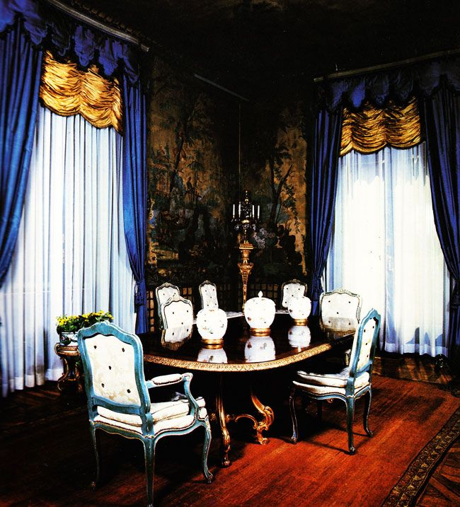 Dining room of Duke & Duchess of Windsor. Paris. (16): Dining Rooms, Paris Dining, Windsor Royalty, Color Schemes, Paris Ii, Interiors Design, De Windsor, Windsor Paris, Edward Viii
