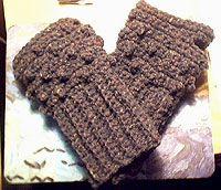 midnight knitter - punk crochet wrist warmers