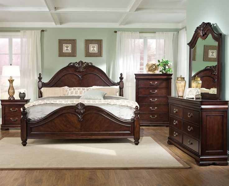 Westchester King Poster Bed With Decorative Scrolled Posts By Standard  Furniture {King Bed $580}