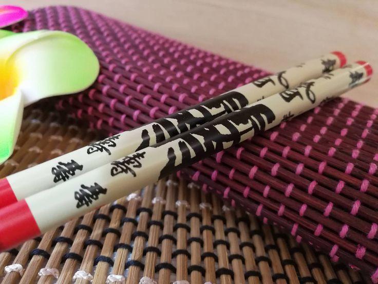 Red Longevity Asian Chopsticks by CherieExcellence on Etsy