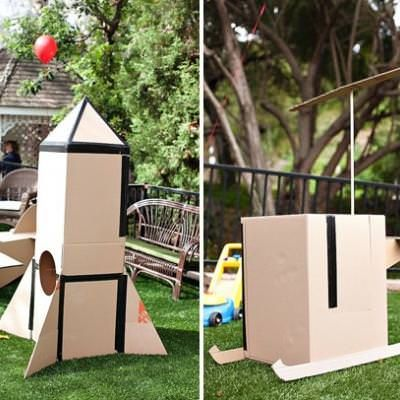 Cardboard Box Party {toddler birthday party} via @tipjunkie