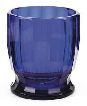 A Leerdam blue pressed glass vase BY K.P.C. DE BAZEL
