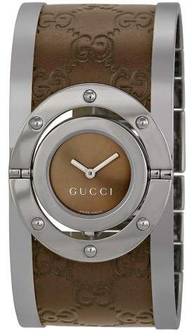 1819d4af778 Gucci Twirl Brown Dial Ladies Watch YA112433
