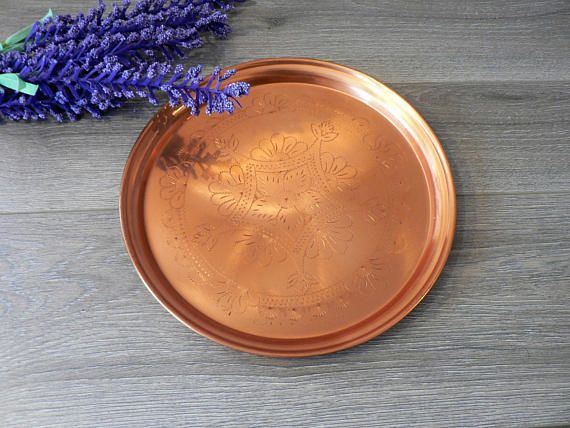 Etched Copper Plate  Tray