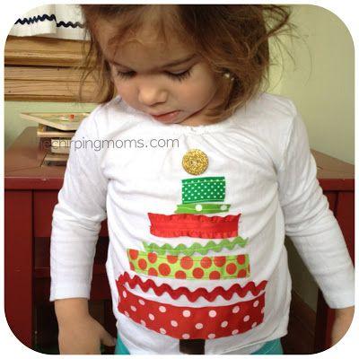 Make a Christmas Tree Shirt. So easy.
