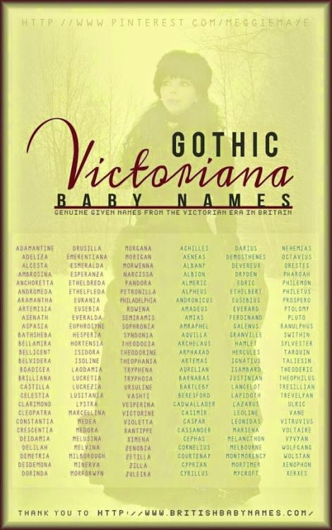Victorian Baby Names. Posted by Clevergirlhelps