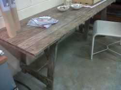 tressle table in oak with fin20 finish, we can custom size as well