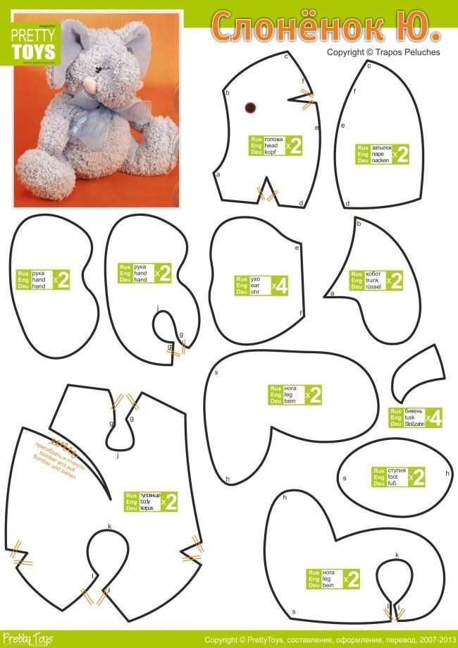 Elephant sewing pattern free aol image search results for Stuffed animal templates free