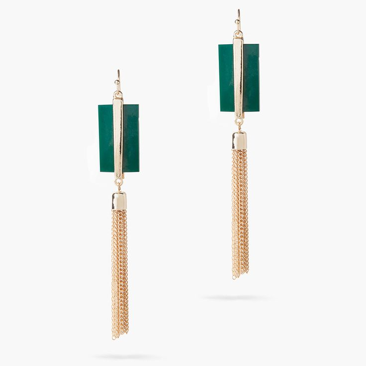 DelilahK's unique brand of feminine elegance translates perfectly to these Delfine drop fringe earrings. They're crafted from gold-tone brass with fringing falling delicately from the top. Wear them with hair worn up to enhance the sense of movement.