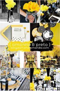 Decoração de Casamento Paleta de Cores : Amarelo e Preto