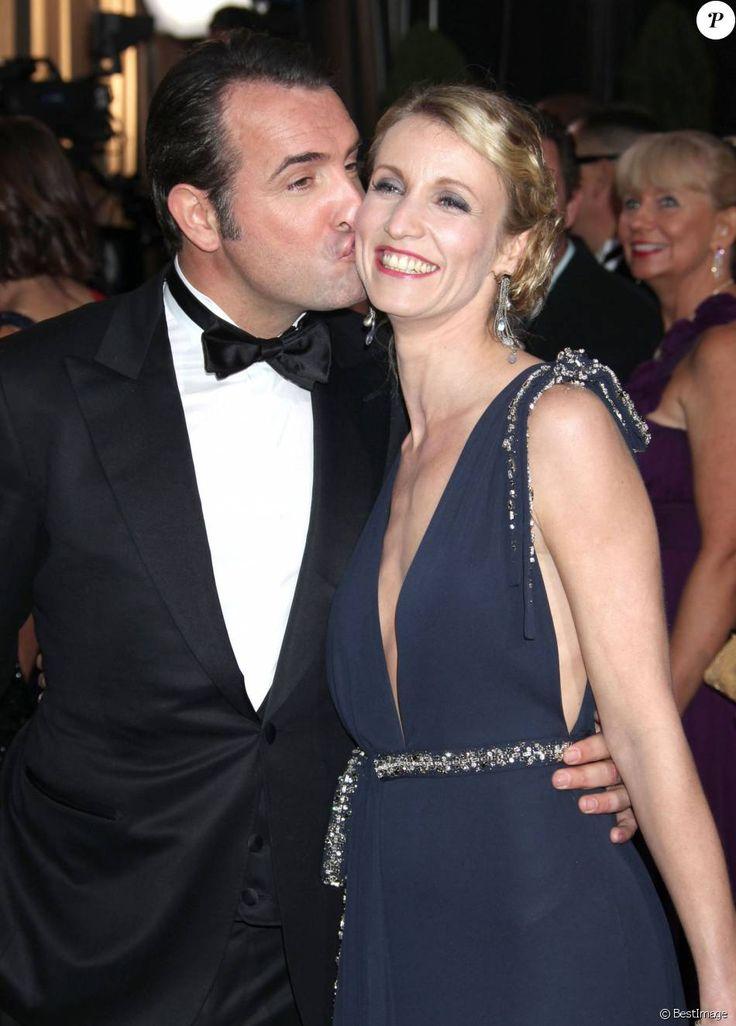 Jean Dujardin et Alexandra Lamy en février 2012 aux Oscars