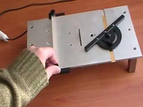 micro sierra de mesa hecha en casa