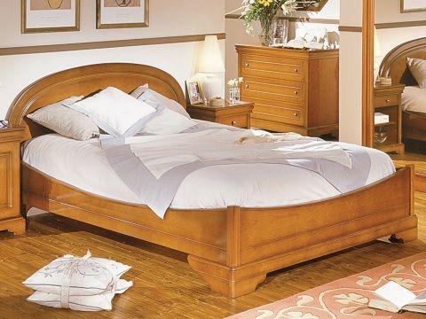 Minet bed Gladys, hoofdbord rond,180 x 200,koets,style ledikant louis philippe,kersen,schuifdeurkast met spiegel