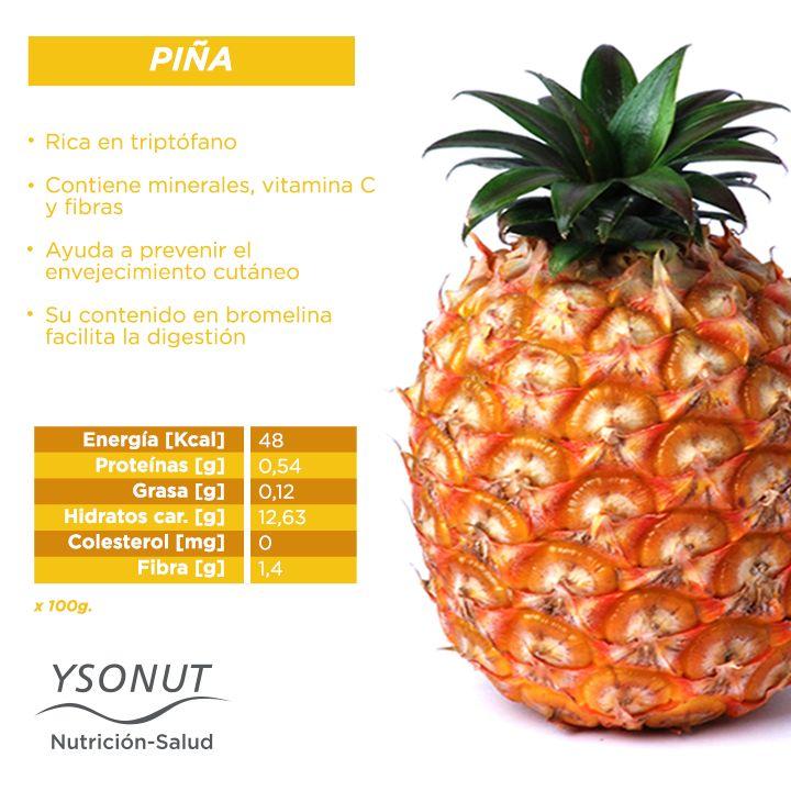 La #piña contiene triptófano y nos ayuda a estar de mejor humor, aunque también tiene otros muchos #beneficios.