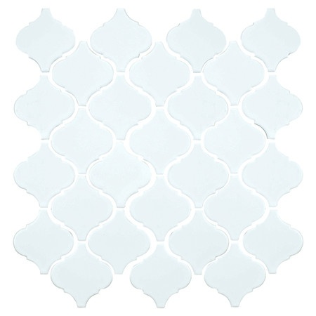 Glazed porcelain tile in white.   Product: Set of 10 tilesConstruction Material: PorcelainColor: White...
