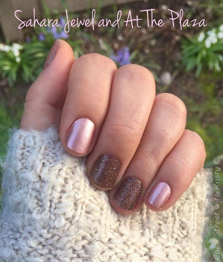 Color Street Nail Polish Strips Sahara Jewel And At The