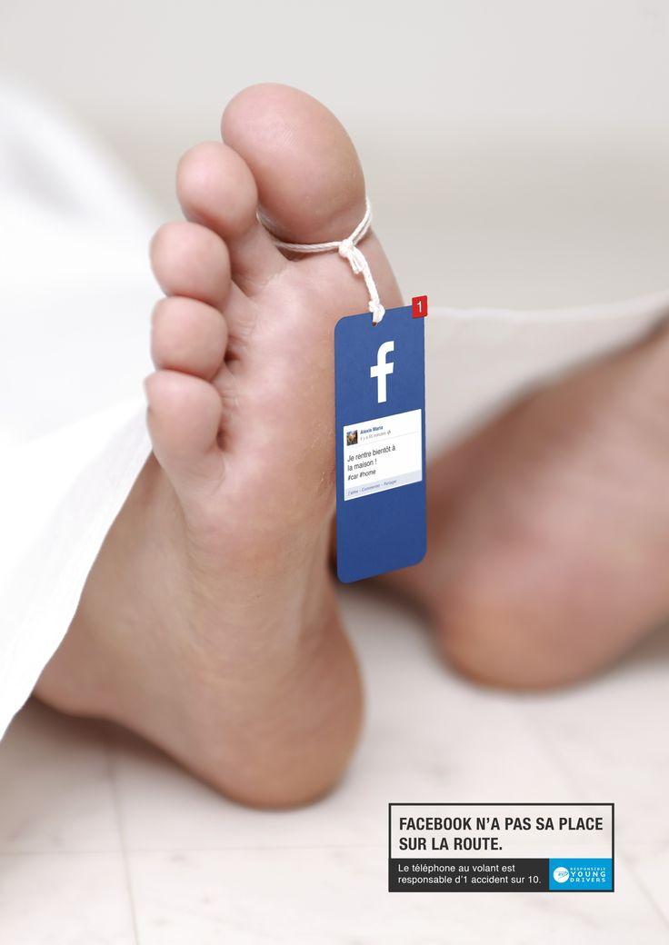 Les réseaux sociaux n'ont pas leur place sur la route