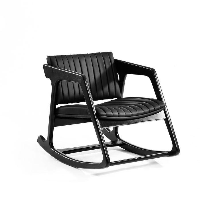 Wallnut U0026 Leather Designed By Kerem Ercin And Mahmut Kefeli Escapefromsofa  Dimensions W: 60 L. Rocking ChairsArmchair