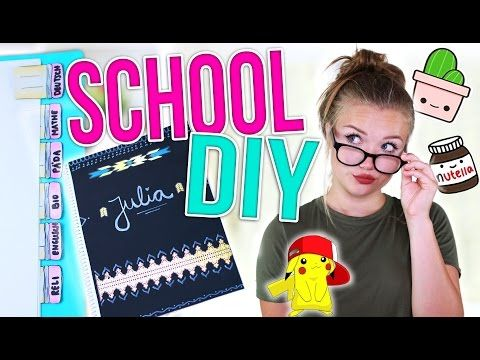 BACK TO SCHOOL DIY SCHOOL SUPPLIES! | Julia Beautx - YouTube
