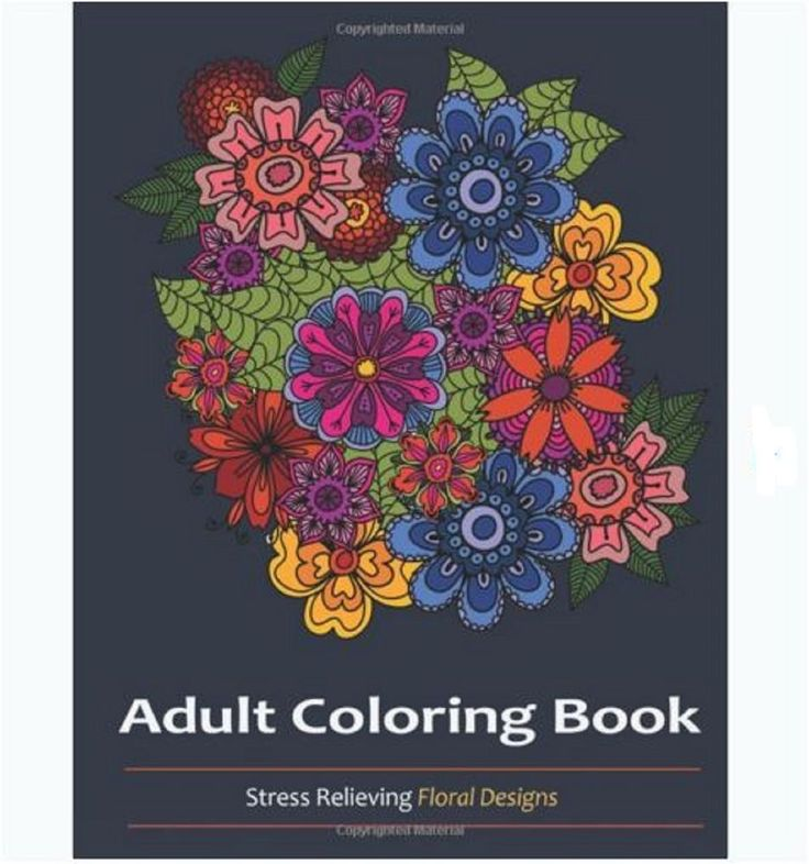 Coloring Book For Adults Floral Stress Relief Designs Patterns Fun Color Relax