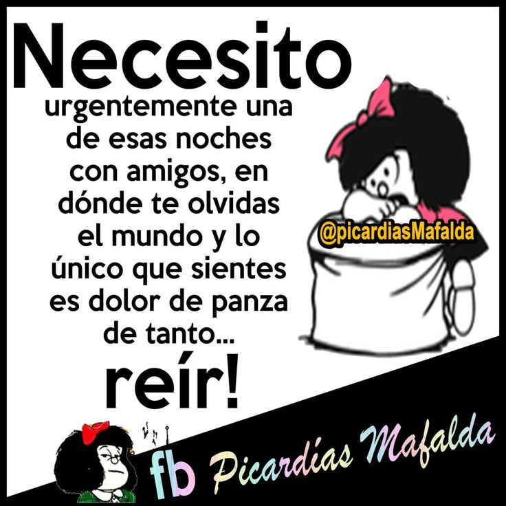 Necesito. Mafalda