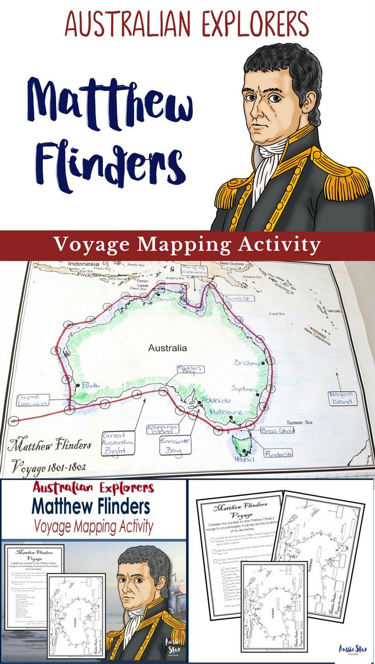 Australian Explorers - Matthew Flinders. Designed for Year 5 HASS Australian Curriculum. This activity is great fun, allowing students to track Flinders� voyage around Australia. Students are also required to use an atlas or online means to record importa