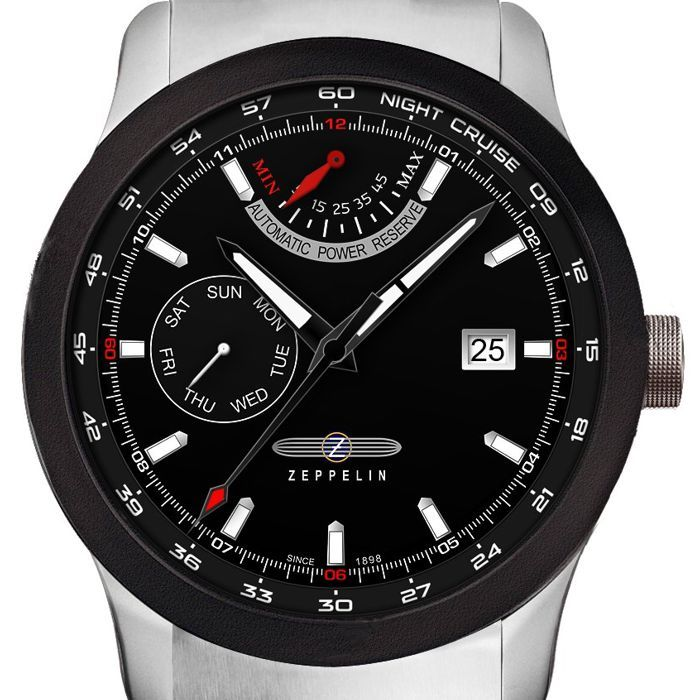 Luxusní pánské hodinky z kolekce Night Cruise se vyznačují sportovním vzhledem a zajímavě zpracovaným ciferníkem. Německá kvalita a preciz... Zeppelin Night Cruise 7262M-2