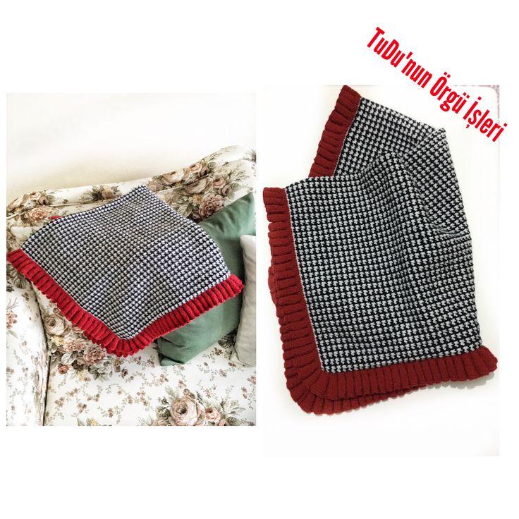 #örgü #yün #elişi #crochet #bebekbattaniyesi #bebek #battaniye #kazayağı #modeli #kazayağıdesen #kırmızı #örgübattaniye #örgüm #örme #siyahbeyaz