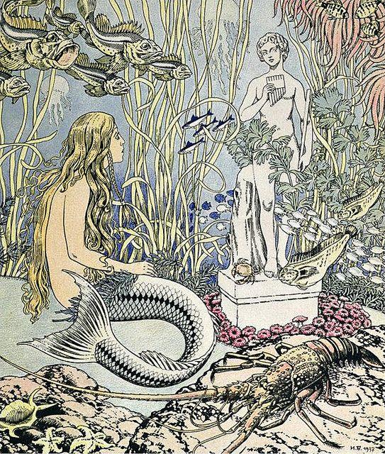 "Vintage Illustration by Ivan Bilibin - ""Little Mermaid"""