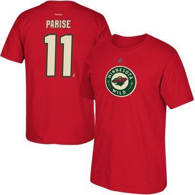 Men's Minnesota Wild Zach Parise Red Player Tshirt