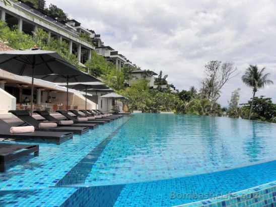 Pool at The Conrad Resort in Koh Samui, Thailand.