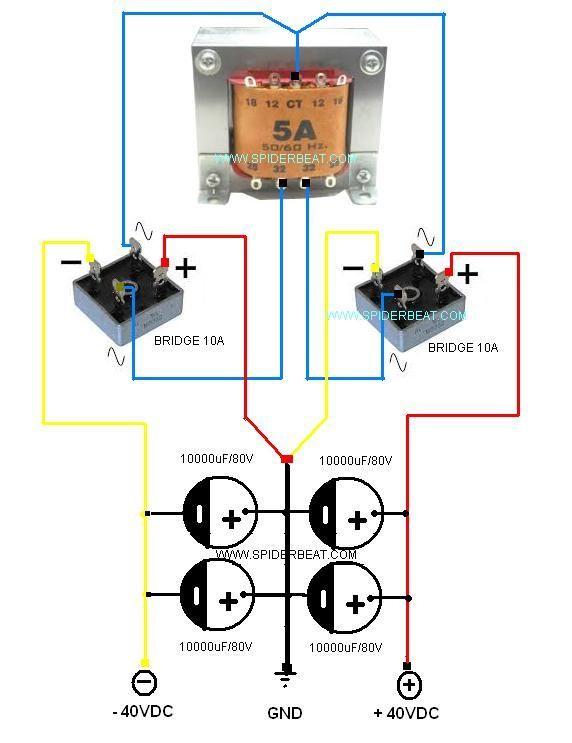 Skema Power Supply 1 Trafo 2 Kiprok Electronic Circuit Projects Electronic Circuit Design Electronics Circuit