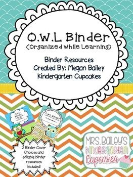 A great resource OWL lovers! This binder was created to aid in organization between the classroom and home.  This product includes the resources needed to create a take home binder for your students.  This product includes 2 different product covers to choose from and the following resources pages all of which are EDITABLE in the included PPT file. Add Content (Cannot Change Headers/Titles) Included are: *OWL Binder Covers (Add Students Name) *OWL Binder Rules *Table of Contents *Important…