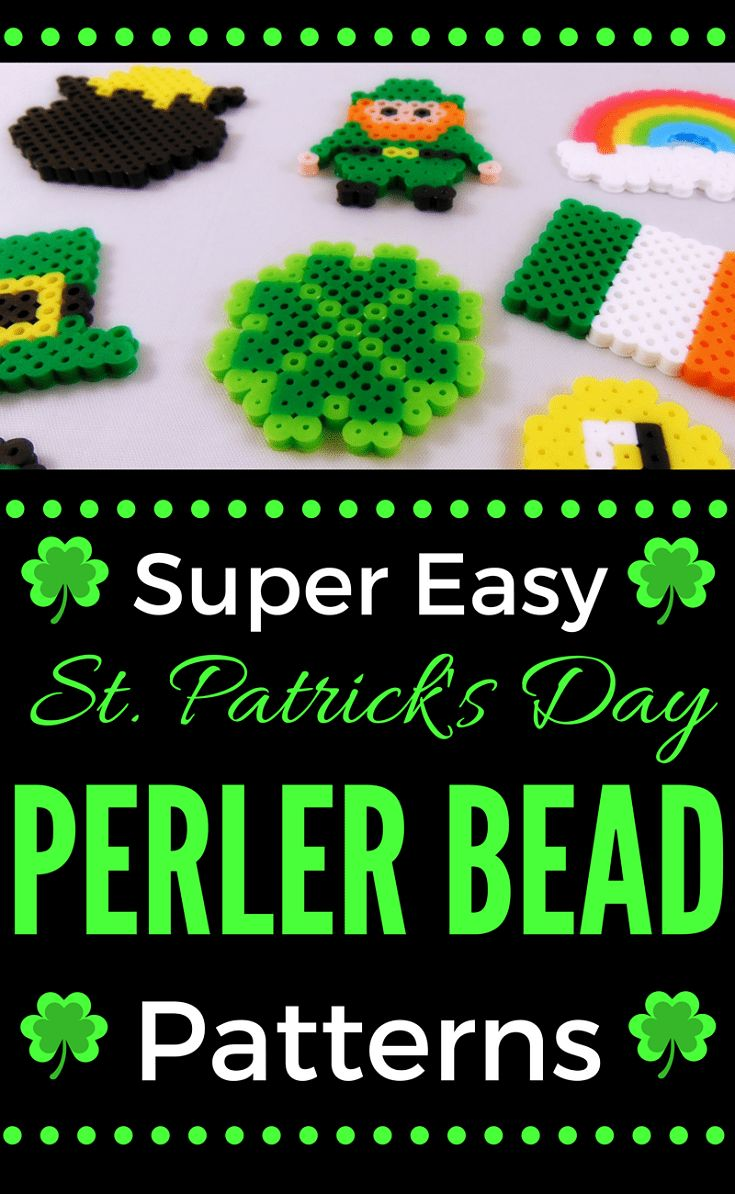 Easy St. Patrick's Day Perler Bead Patterns